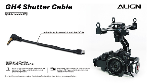 Align Shutter Release Cable for Panasonic Gh4 Camera