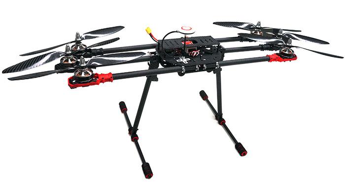 ARRIS M680 Carbon Fiber Hexa-copter RTF with DJI Naza Lite