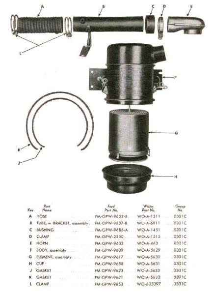 Willys Wagon Air Filter, Willys, Free Engine Image For