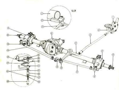 1978 jeep cj7 wiring diagram how to prune an apple tree willys parts diagrams illustrations from midwest cj steering system 1946 71