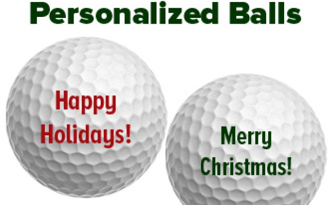 Give The Gift Of Golf Balls With A Personalized Holiday