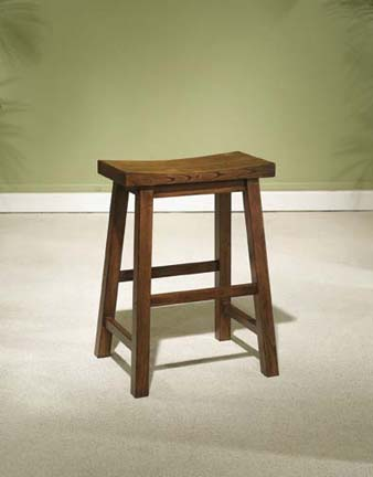 """Founded in 1968   has been a leading importer of design driven  high quality products for nearly 40 years. The Company`s success is a result of its service-oriented culture  broad product offerings and an industry wide reputation for reliability  integrity and honesty. This counter stool is made from solid tropical wood  and is finished in """"Honey Brown"""" to easily match todays kitchens. The seat features a wide scoop for added comfort. Some assembly required.Dimensions: 17-1/2"""" x 14-1/4"""" x 24"""" tall  Seat Height: 24""""  It may take an additional 1-2 weeks for this item to arrive."""