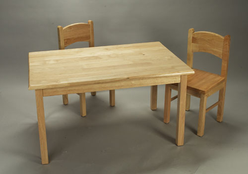 solid wood childrens table and chairs desk singapore toddler chair sets unbeatablesale com giftmark 1406n set natural