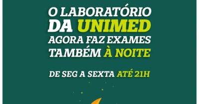 Unimed Litoral oferecerá coletas laboratoriais também à noite