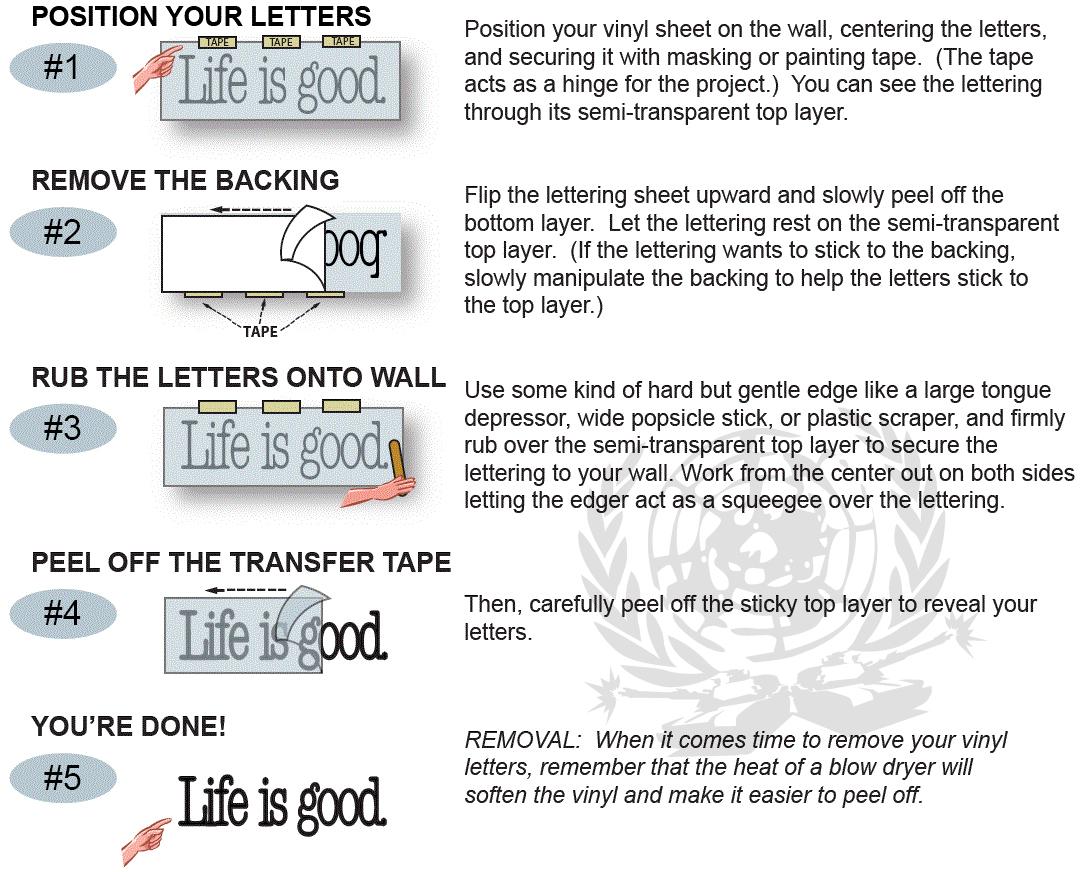 How To Apply Vinyl Lettering Textpoems Org