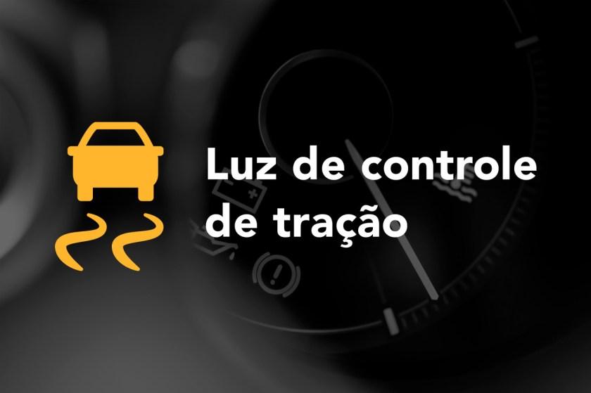 luz de controle de tracao acesa no painel do carro