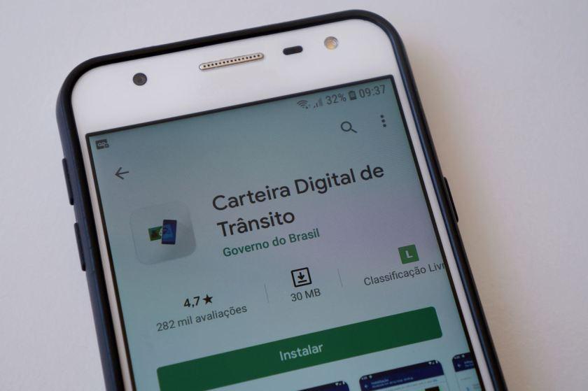 foto do aplicativo cdt carteira digital de transito