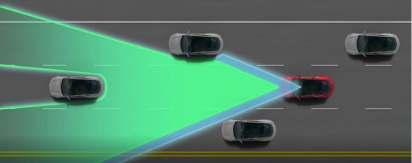 camera de reconhecimento de imagem carro tesla