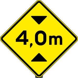 placa de altura máxima
