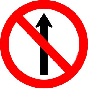 placa de sentido proibido