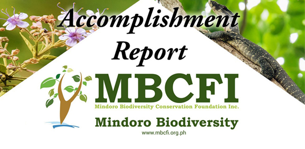 Accomplishment Report  Mindoro Biodiversity