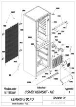 Beko CDA660FS (7511620008) Fridge & Freezer Spares & Parts | Ransom Spares
