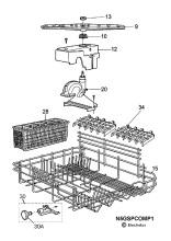 Electrolux ESF2410 (91132900100) Dishwasher Spares & Parts
