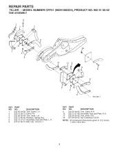 Husqvarna CRT 51 (960910002) Cultivator Spares & Parts