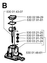 Husqvarna 18H (1996-03) Hedge Trimmer Spares & Parts