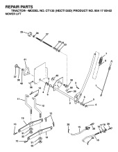 Husqvarna CT135 HECT135D (954170082) Ride On Mower Spares