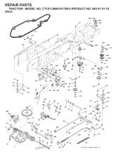 Husqvarna CT151 (96061017901) Ride On Mower Spares & Parts
