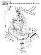 Husqvarna LTH151 (960110112) Ride On Mower Spares & Parts