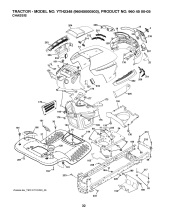 Husqvarna YTH2348 (96045000503) Ride On Mower Spares