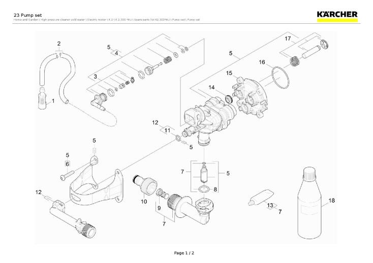 Karcher K2.300 AU (1.602-206.0) Pressure Washer 23 Pump