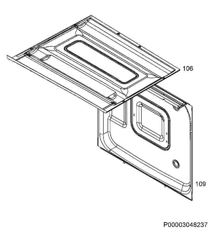 Zanussi ZOP37902XK (94971810001) Oven Housing Spare Parts