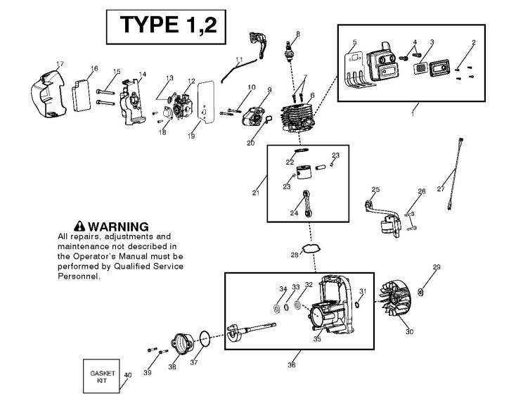 Flymo XLB325 (952715705) Garden Vacuum ENGINE Spare Parts