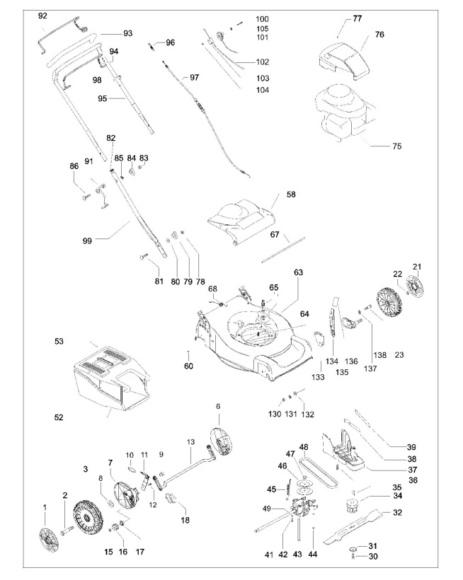 Flymo QUICKSILVER 46SD (966849601) Lawnmower PRODUCT