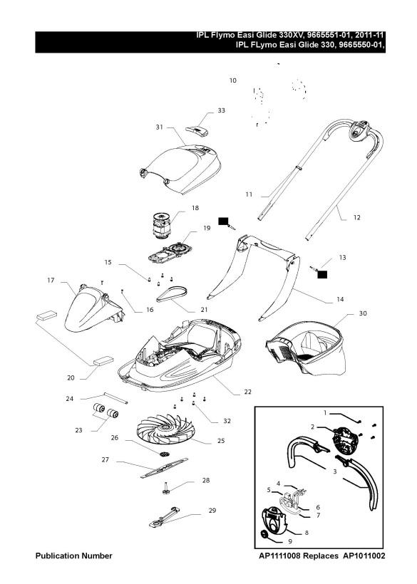 Flymo EASI GLIDE 330 (966555001) Lawnmower PRODUCT