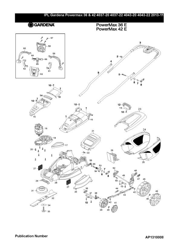 Gardena POWER MAX 36 E (4037-20) Lawnmower PRODUCT