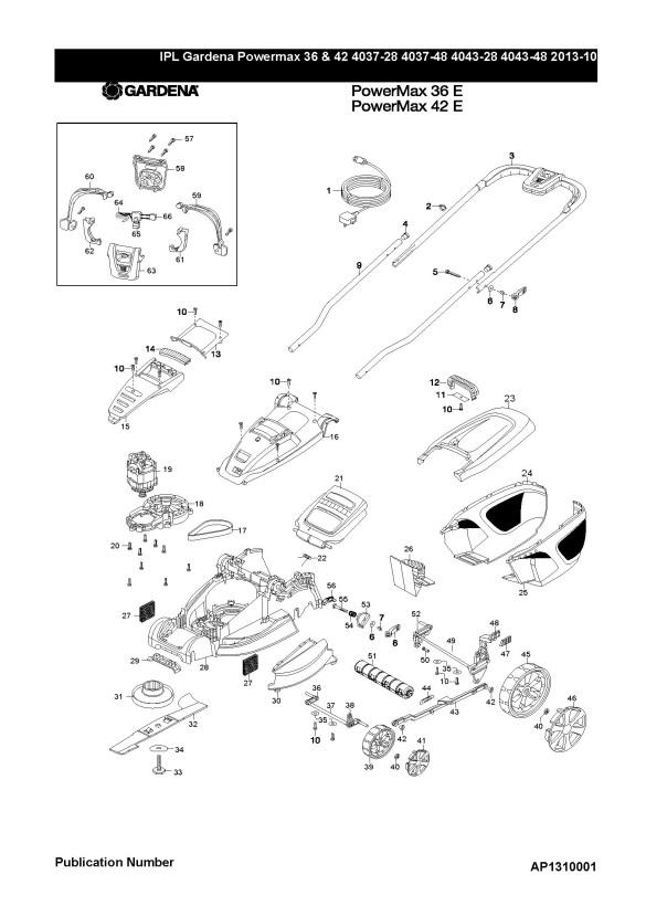 Gardena POWER MAX 42 E (4043-48) Lawnmower PRODUCT