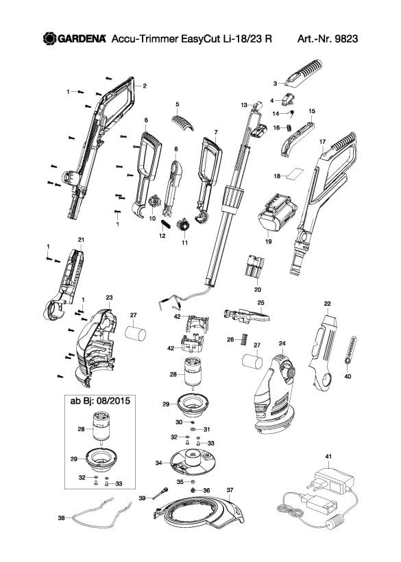Gardena EASYCUT LI-18/23 R (9823-20) Trimmer PRODUCT