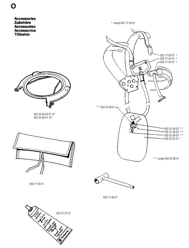 Husqvarna 245 R (1990-01) Trimmer ACCESSORIES Spare Parts