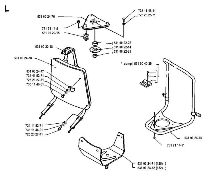 Husqvarna 132 RB (1993-04) Trimmer HARNESS Spare Parts Diagram