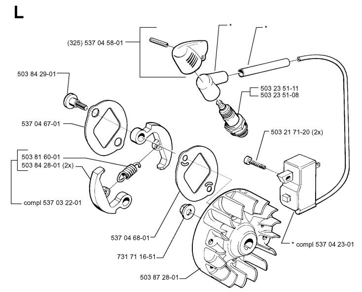 Husqvarna 322 C (968042102) Trimmer IGNITION SYSTEM