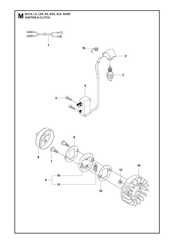 Husqvarna 327 RX (2010) Trimmer IGNITION SYSTEM & CLUTCH