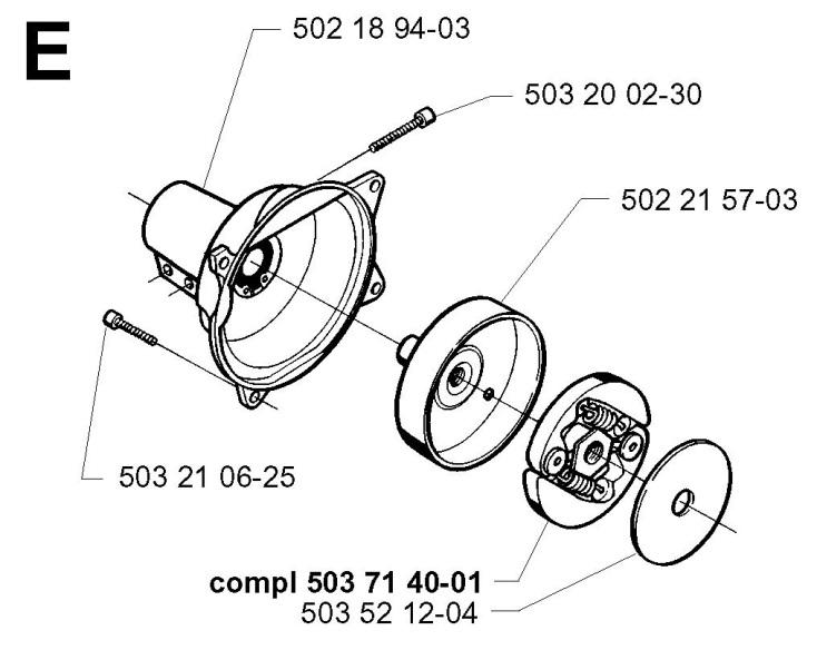 Husqvarna 225 R (1997-02) Trimmer CLUTCH Spare Parts Diagram