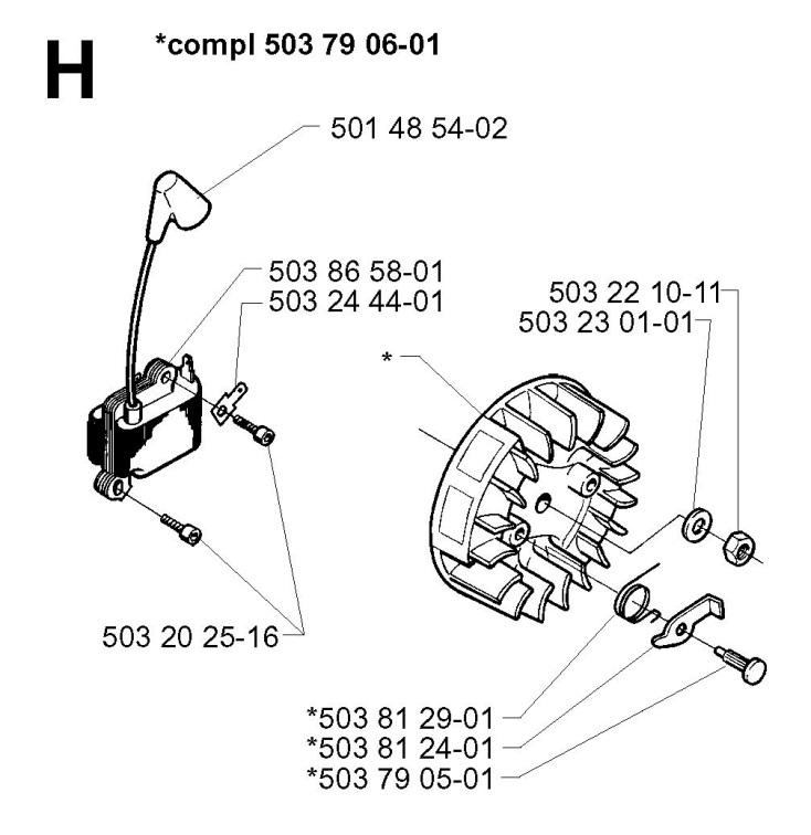 Husqvarna 235 R (1997-02) Trimmer IGNITION SYSTEM Spare
