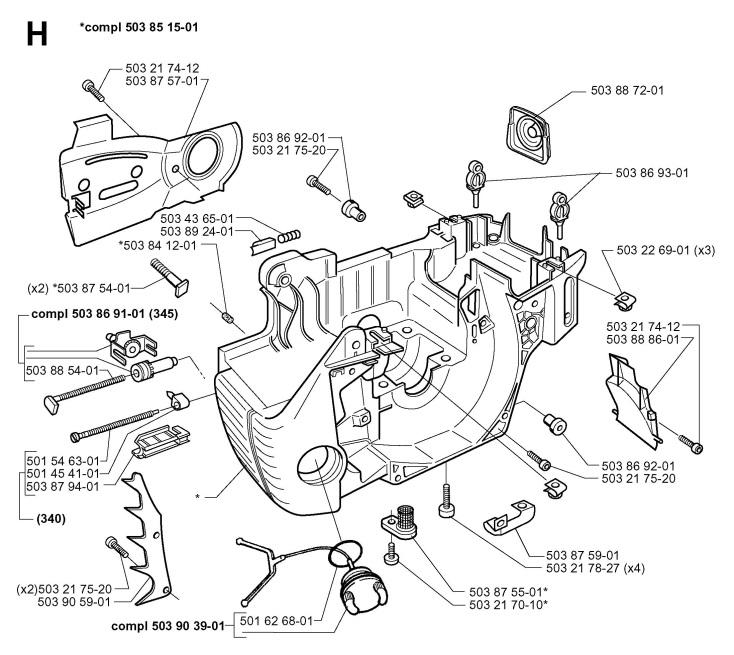 husqvarna 345 parts manual