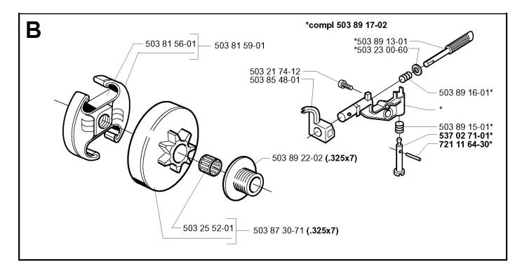 Husqvarna 350 Chainsaw Parts Diagram