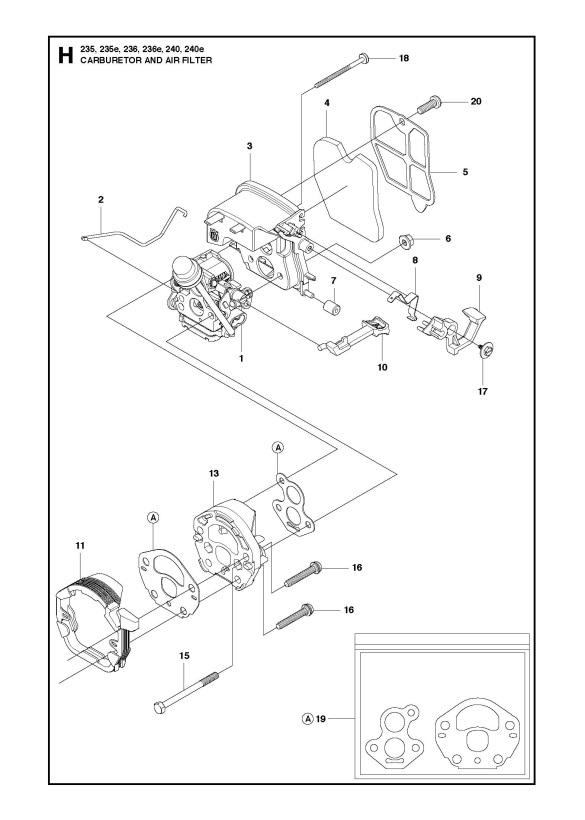 husqvarna 235 chainsaw parts diagram rj45 straight through wiring e 2010 04 carburetor air filter spare
