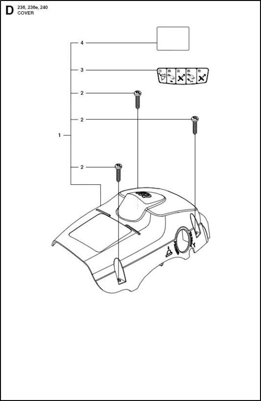 Husqvarna 236 (967326403) Chainsaw COVER Spare Parts Diagram