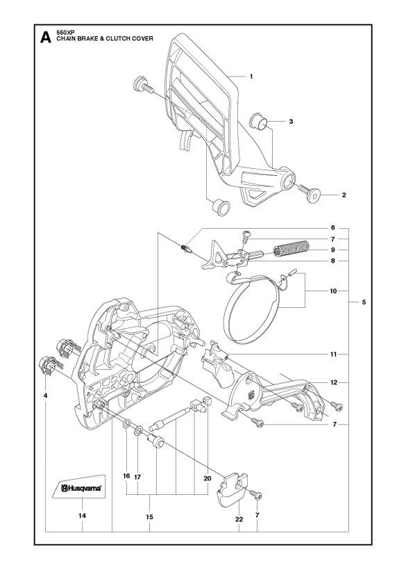 Husqvarna 550 XP/XPG Chainsaw CHAIN BRAKE & CLUTCH COVER