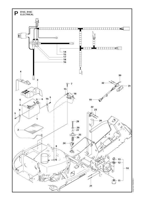 Husqvarna RIDER 16 C (966830601) Ride On Mower ELECTRICAL