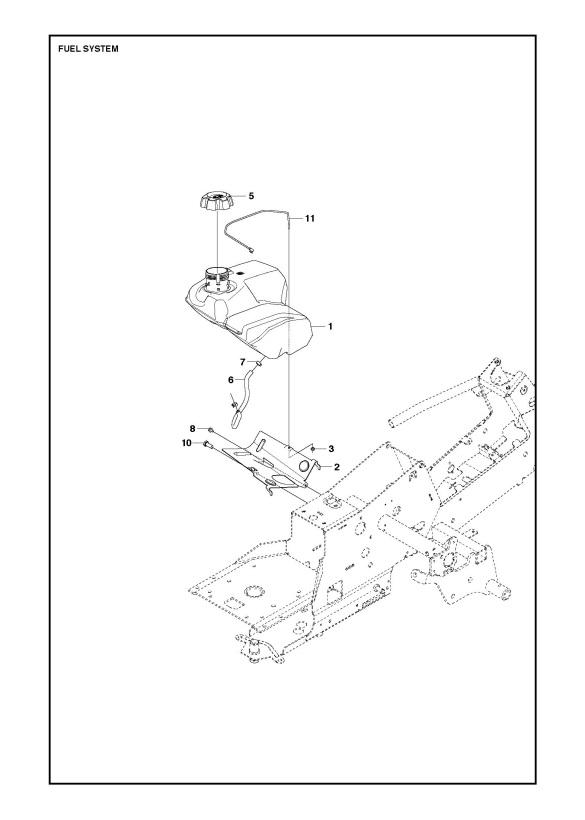 Husqvarna R213 C (967291001) Ride On Mower FUEL SYSTEM