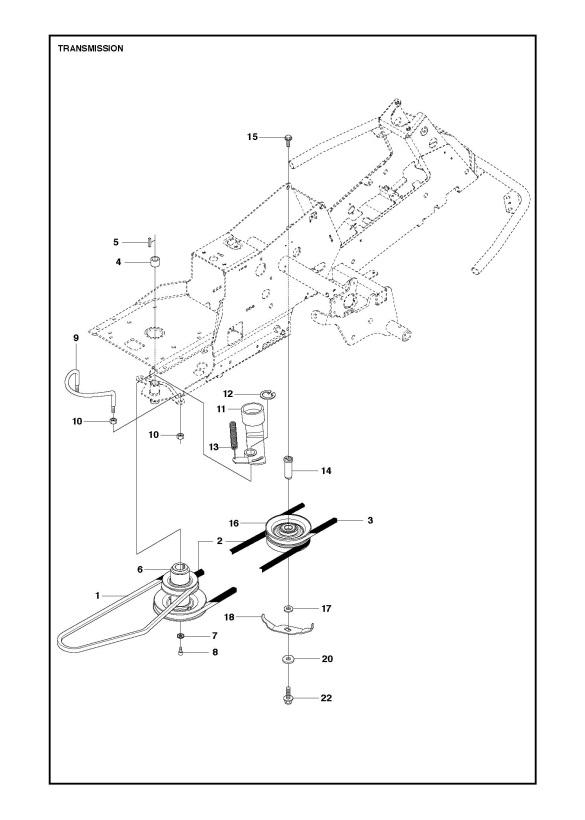 Husqvarna R216 AWD (967150701) Ride On Mower TRANSMISSION