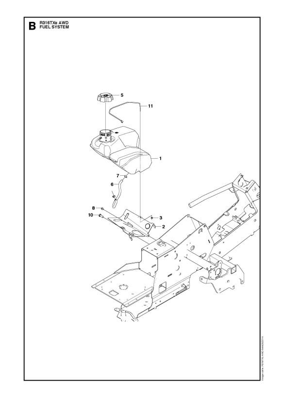 Husqvarna R316 TXs AWD (966757801) Ride On Mower FUEL