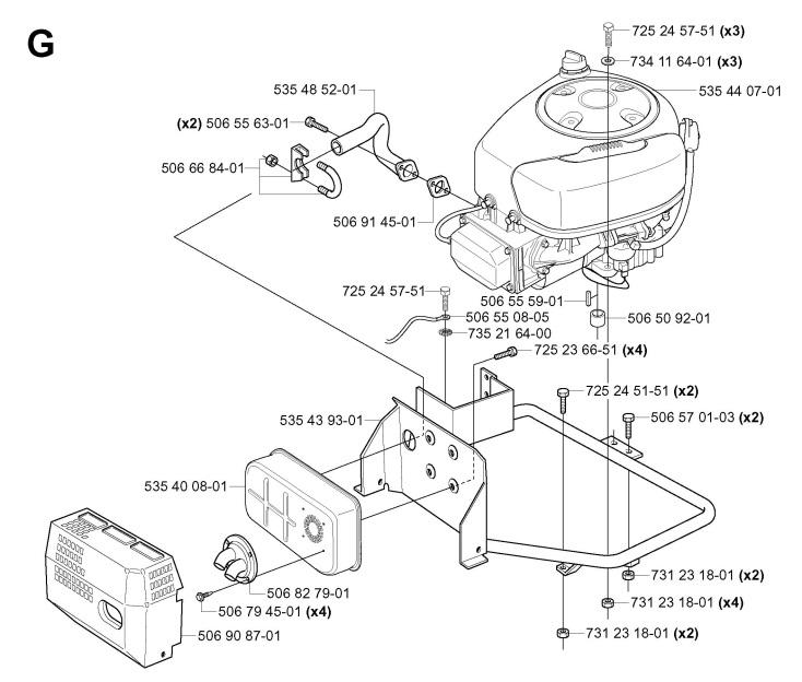 Husqvarna RIDER 11 (953519401) Ride On Mower ENGINE Spare