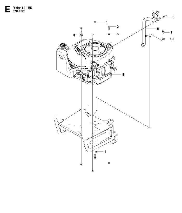 Husqvarna R111 B5 (965996701) Ride On Mower ENGINE Spare