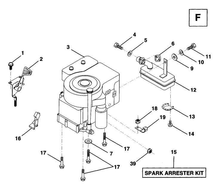 Husqvarna LT100 (1995-03) Ride On Mower ENGINE & CUTTING