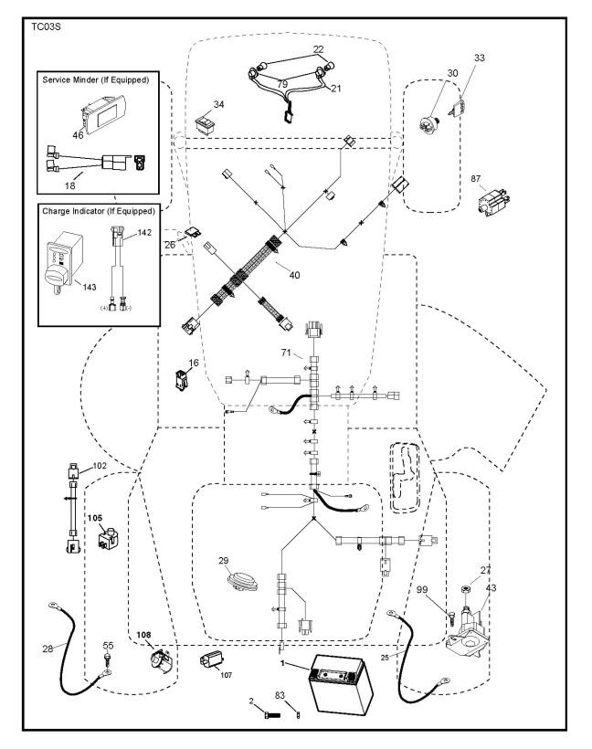 Husqvarna TC 142 (96051012500) Ride On Mower ELECTRICAL